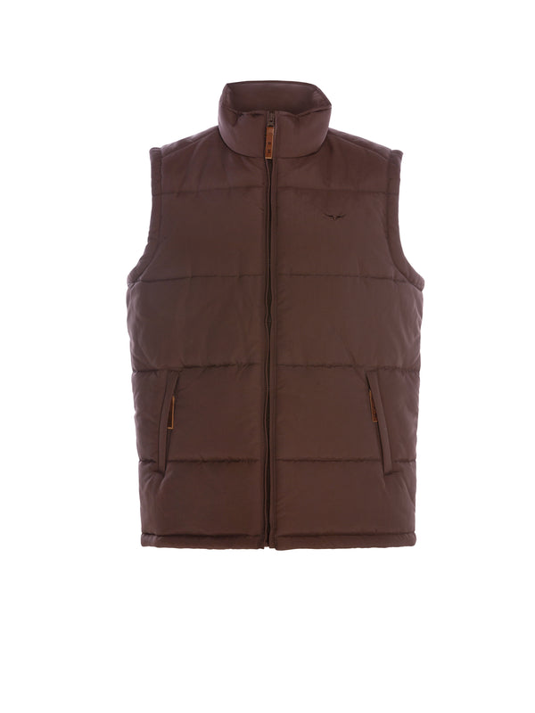 R.M. Williams Mens Patterson Creek Vest - Chocolate
