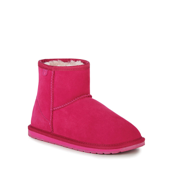EMU Australia Kids Wallaby Mini - Hot Pink & Chestnut