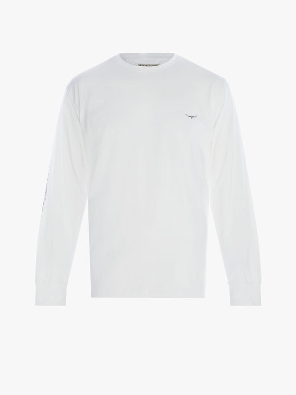 R.M. Williams Mens Signature Long Sleeve T-Shirt - White