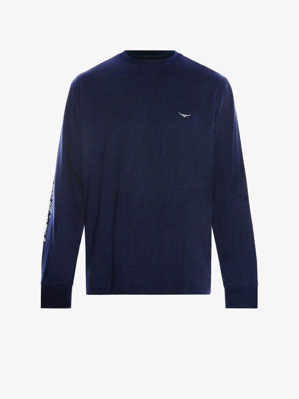 R.M. Williams Mens Signature Long Sleeve T-Shirt - Navy