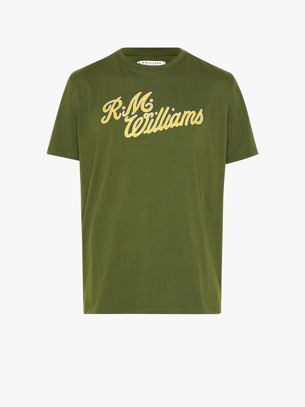R.M. Williams Script T-Shirt - Olive