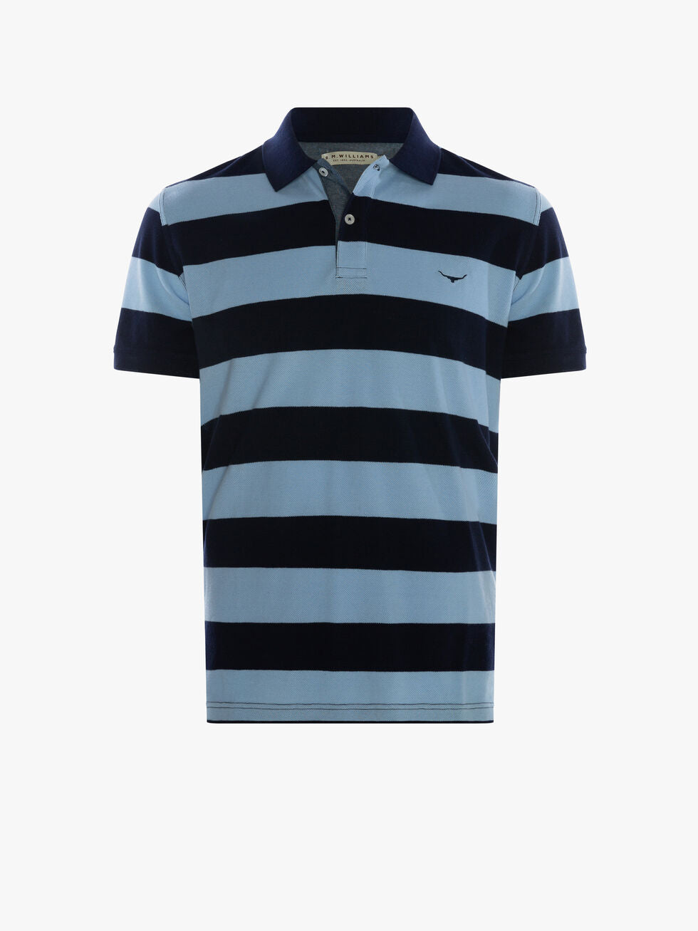 R.M. Williams Rokewood Polo - Navy/Light Blue
