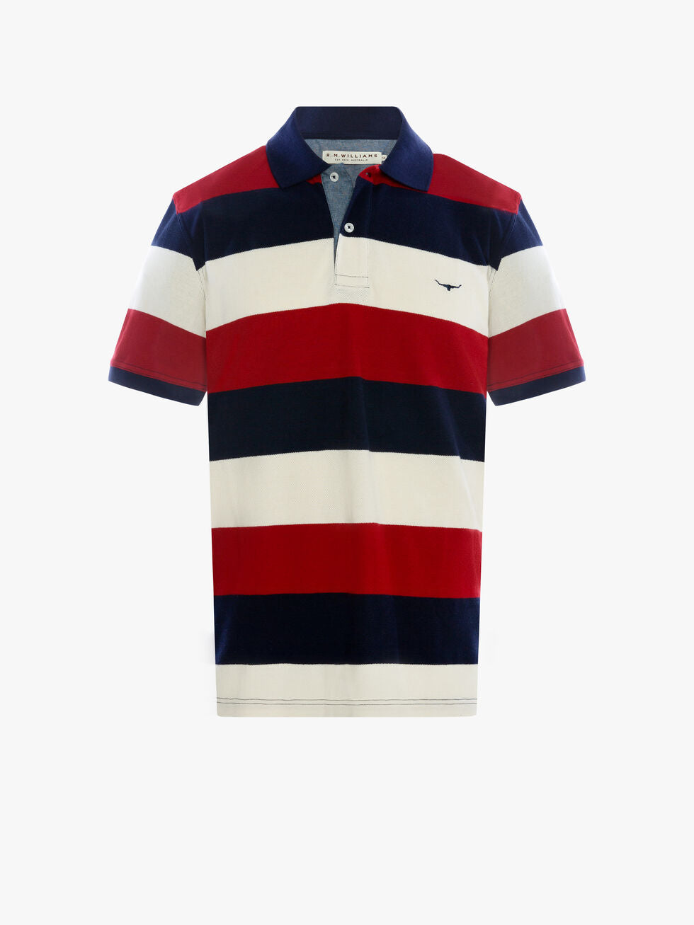 R.M. Williams Mens Rod Polo - Block Stripe