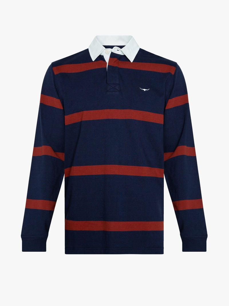 R.M. Williams Tweedale Rugby - Navy/Red