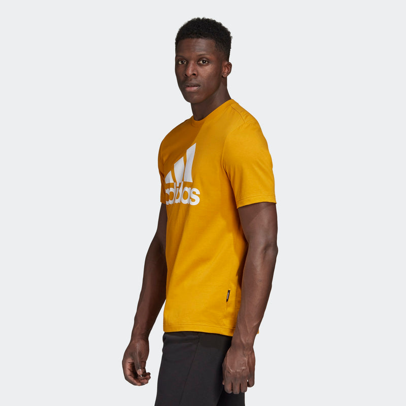 Adidas Mens Must Haves Badge of Sport Tee - Gold