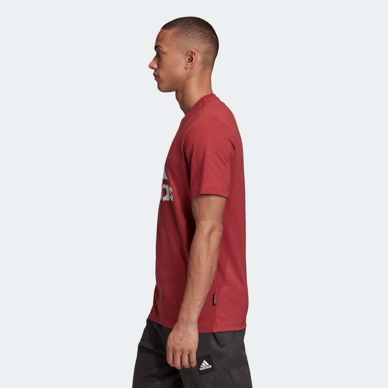 Adidas Mens Must Haves Badge of Sport Tee - Red