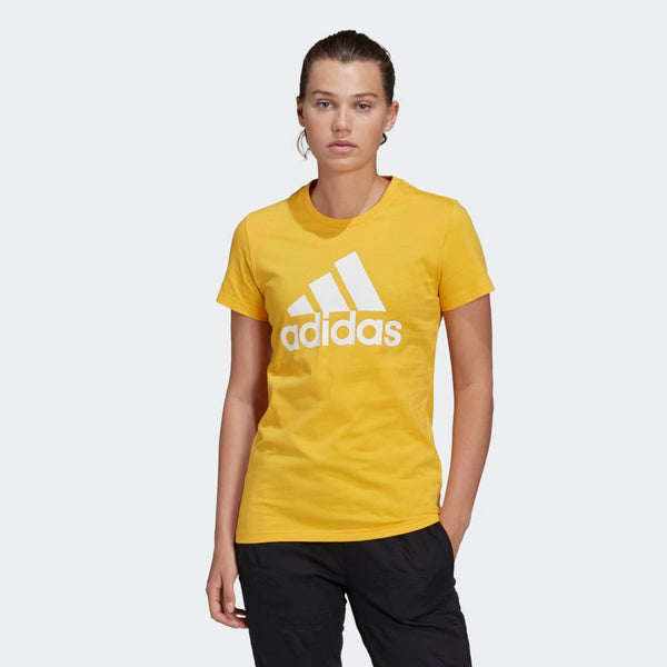 Adidas Womens Must Haves Badge of Sport Tee - Gold