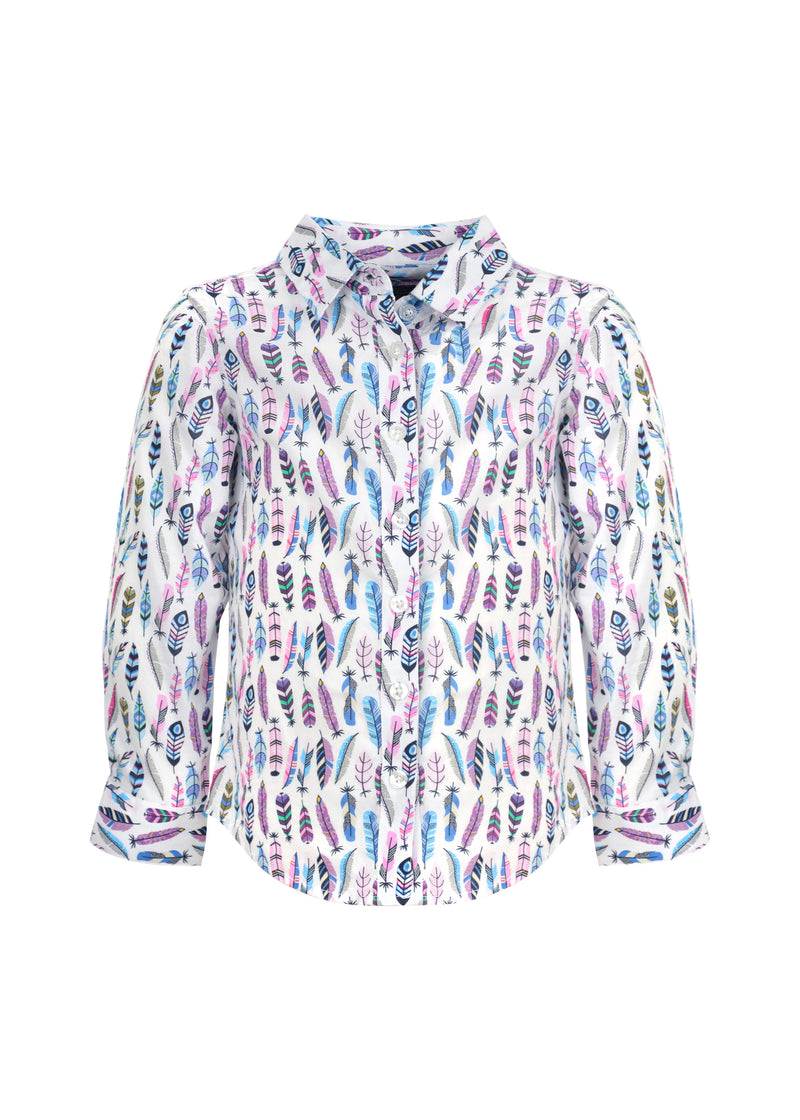 Pure Western Girls Leslie Print Long Sleeve Shirt