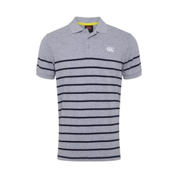 Canterbury Mens Engineered Stripe Polo - Big & Tall Classic Marle