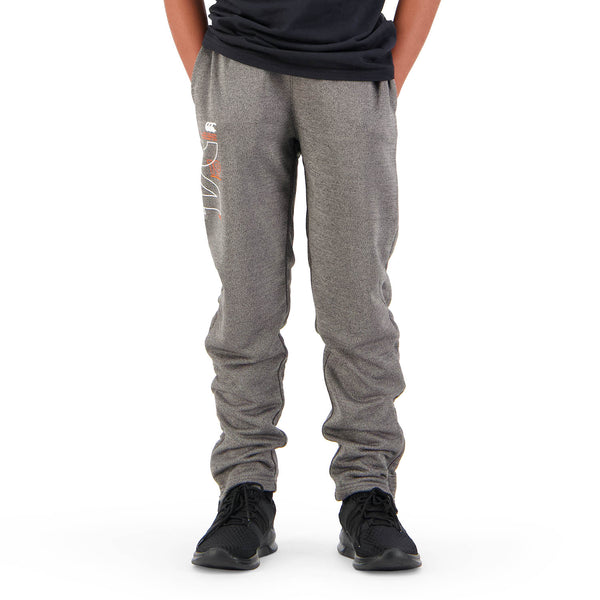 Canterbury Boys Poly Knit Pant - Black Grey Marle