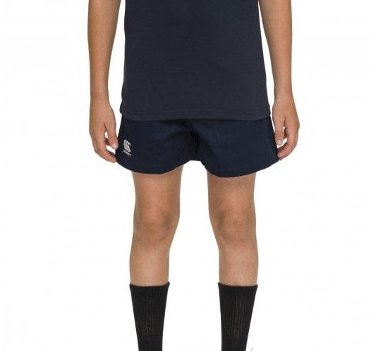Canterbury Kids Rugged Drill Shorts - Navy & Black