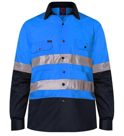 Rietmate 2 Tone Open Front Long Sleeve 3M Tape Shirt - 3 Colours