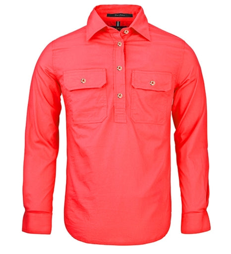 Ritemate Womens Closed Front Long Sleeve Shirt - 10 Colours