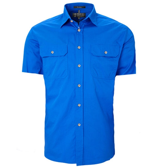 Ritemate Mens Open Front Short Sleeve Shirt - 3 Colours