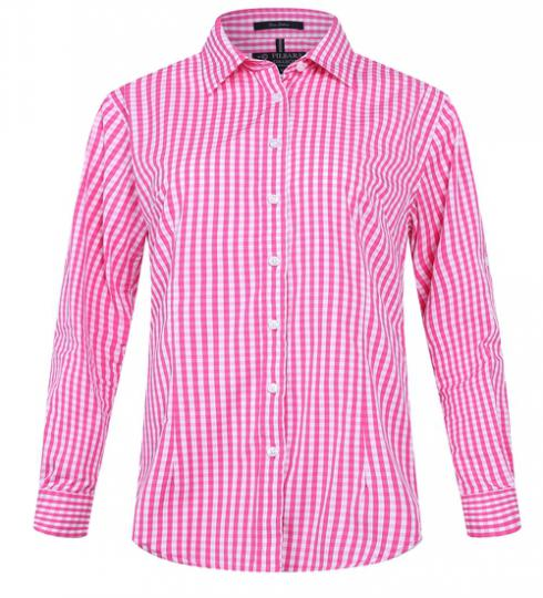 Ritemate Ladies Check Long Sleeve Shirt - 3 Colours