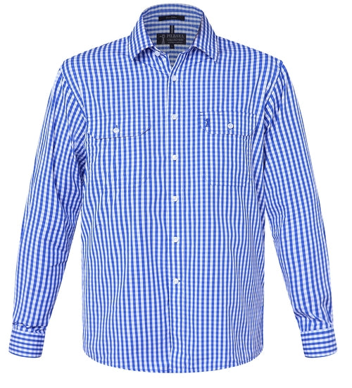 Ritemate Mens Long Sleeve Full Button Check Shirt - 2 Colours