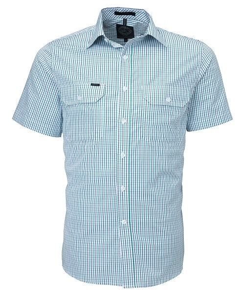 Ritemate Mens Double Pocket Short-Sleeve Shirt - 4 Colours