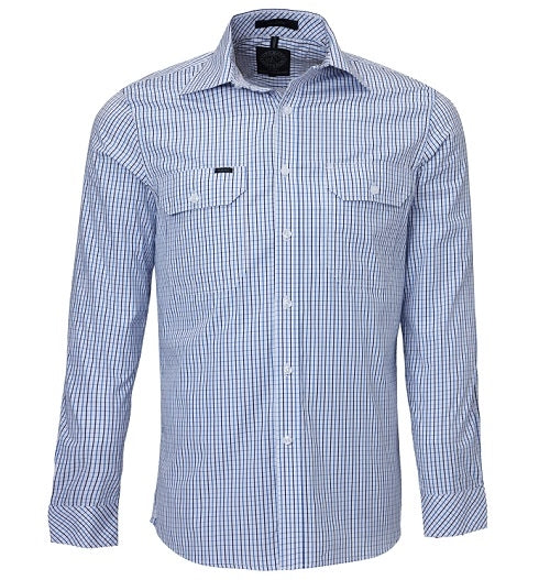 Ritemate Mens Double Pocket Long Sleeve Shirt - 4 Colours