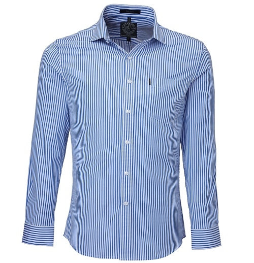 Ritemate Mens Single Pocket Long Sleeve Shirt - 4 Colours