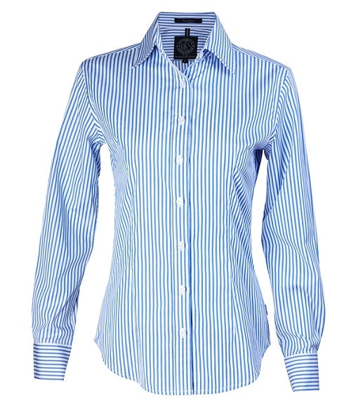 Ritemate Womens Long Sleeve Stripe Shirt - 6 Colours