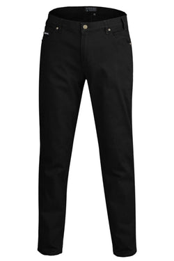 Ritemate Mens Cotton Stretch Jean - Black