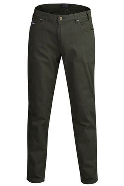 Ritemate Mens Cotton Stretch Jean - Moss