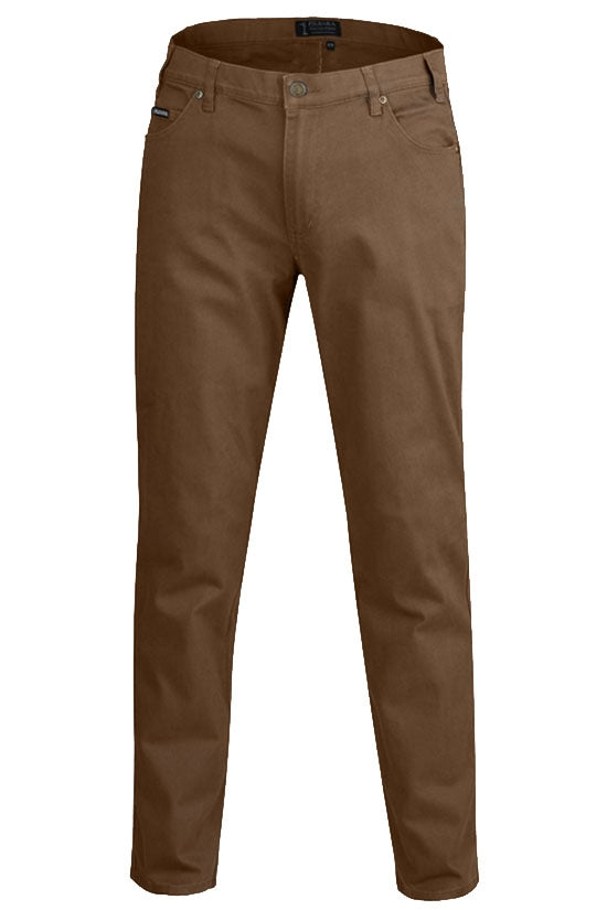Ritemate Mens Cotton Stretch Jean - Whisky