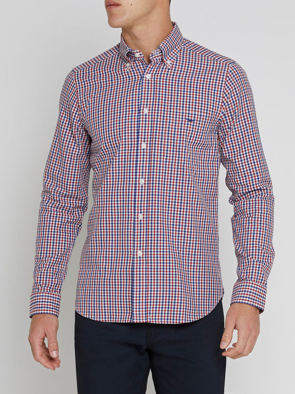R.M. Williams Slim Fit Jervis Shirt - Red/White/Navy