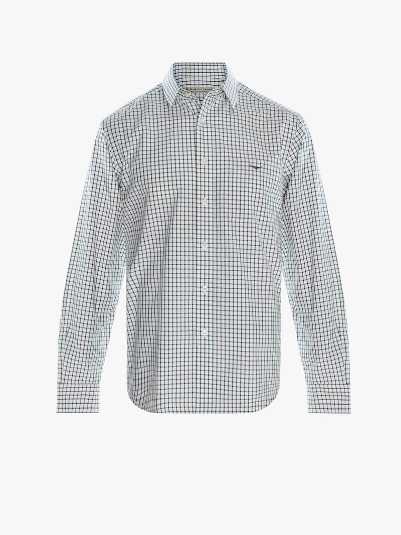 R.M. Williams Mens Collins Shirt - Green/Charcoal