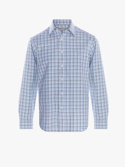 R.M. Williams Collins Shirt - Light Blue/White