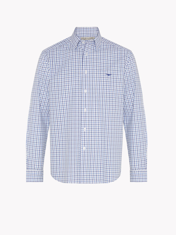 R.M. Williams Collins Shirt - Pale Blue/White