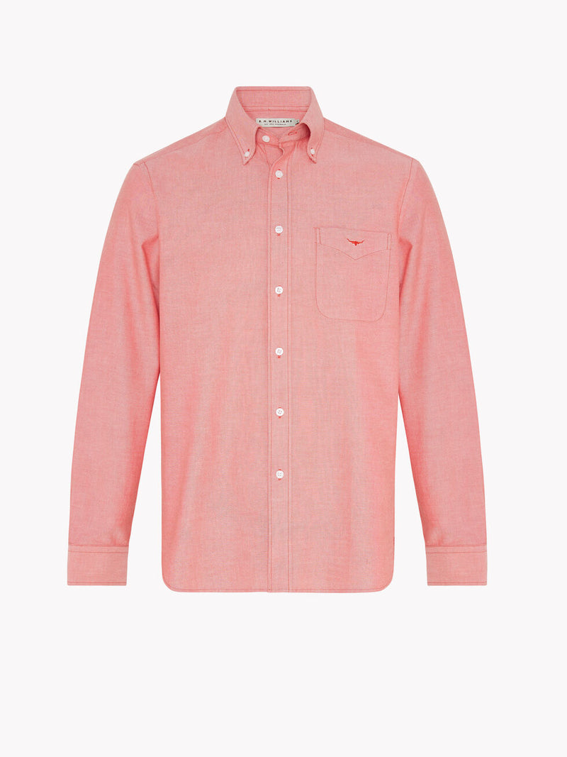 R.M. Williams Collins Button Down Shirt - Red
