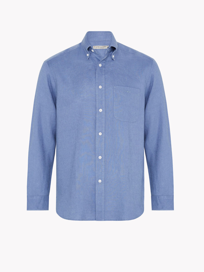 R.M. Williams Collins Button Down Shirt - Ice Blue