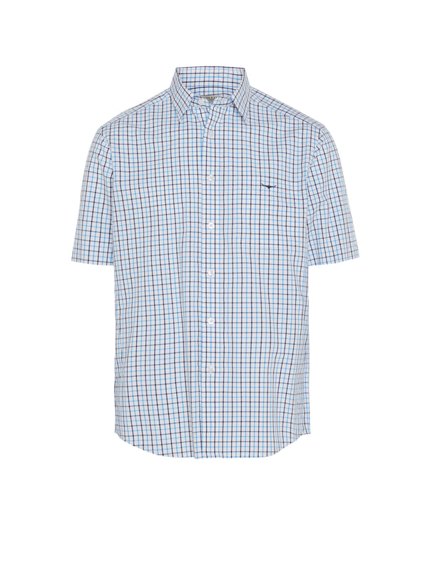 R.M. Williams Hervey Shirt - White/Aqua