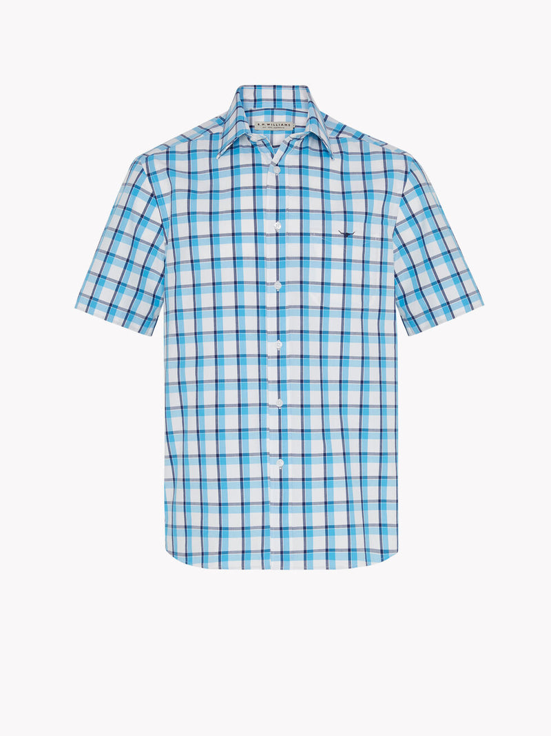 R.M. Williams Hervey Shirt - Navy/Aqua/White