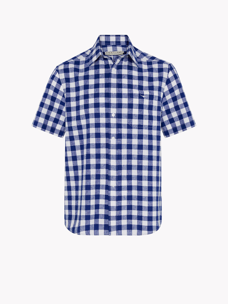 R.M. Williams Hervey Shirt - Blue/White