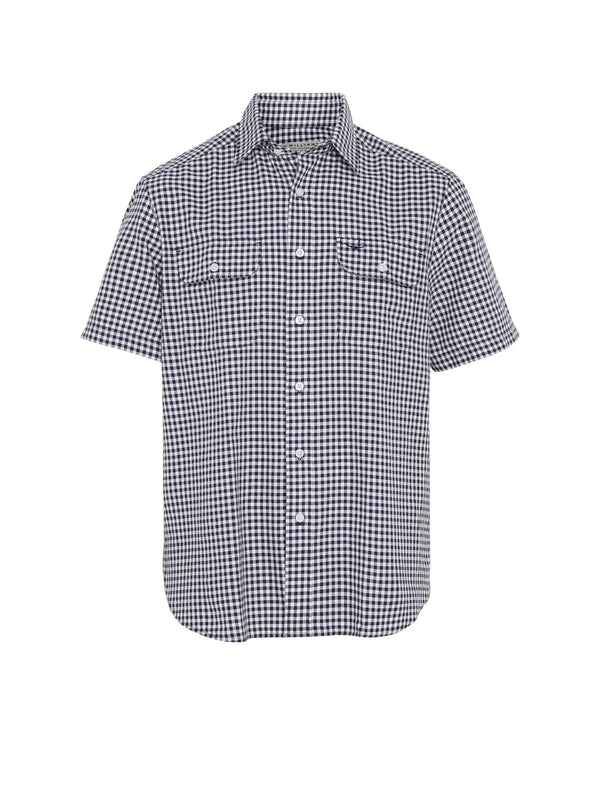 R.M. Williams Fraser Shirt - Navy/White