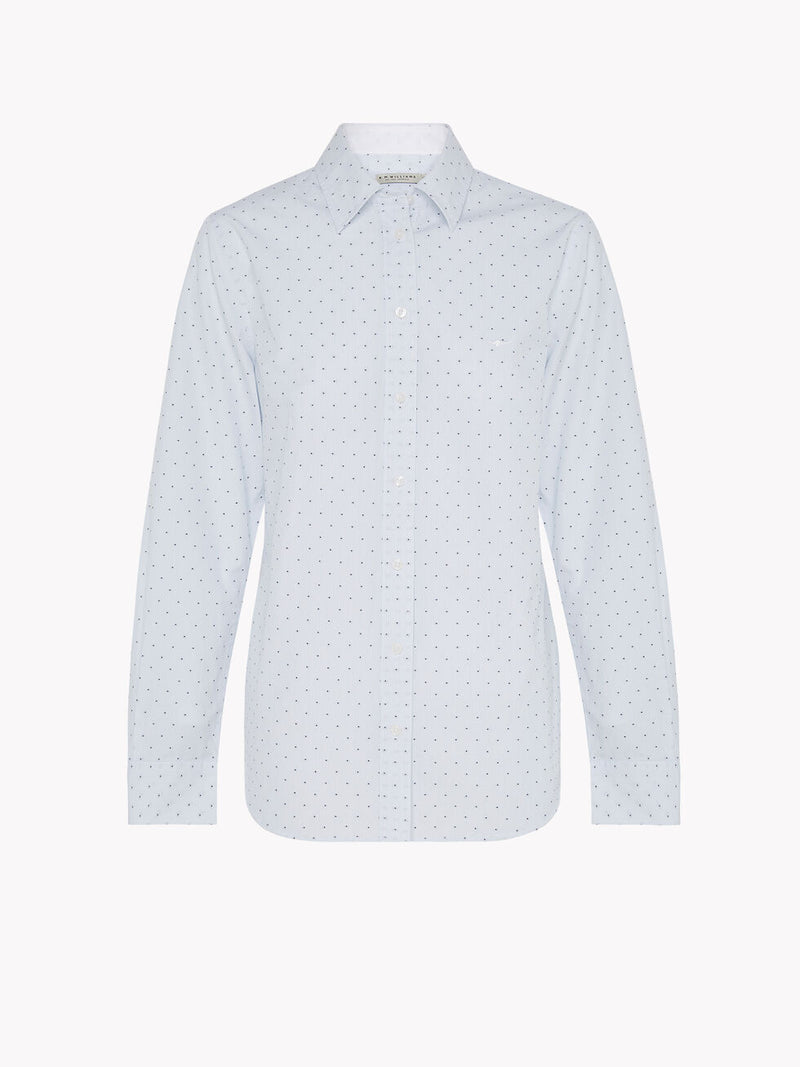 R.M. Williams Nicole Shirt - White/Blue