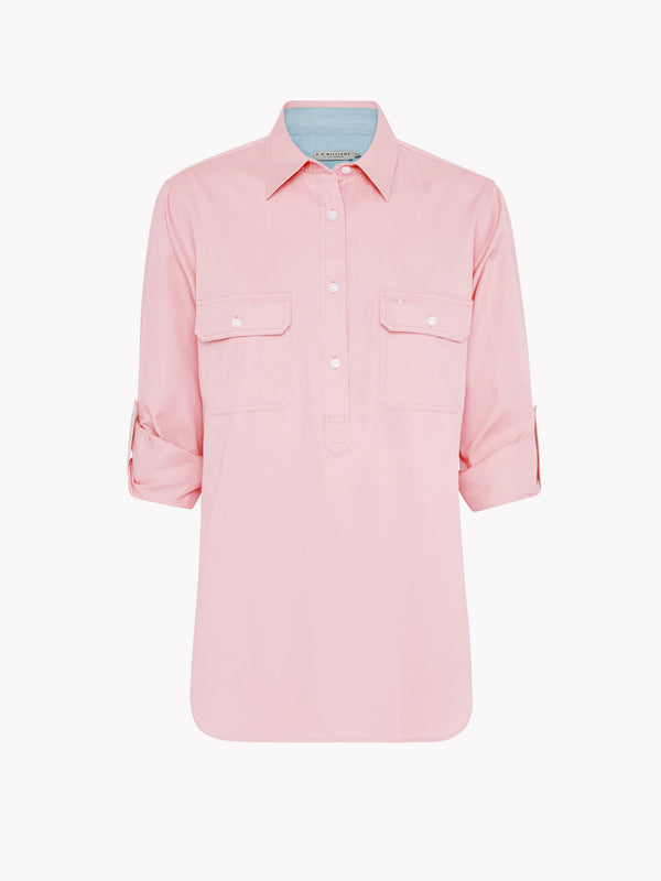 R.M. Williams Broken Hill Shirt - Pale Pink