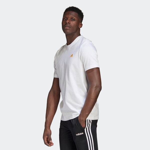Adidas Mens Short Sleeve Graphic Tee - White