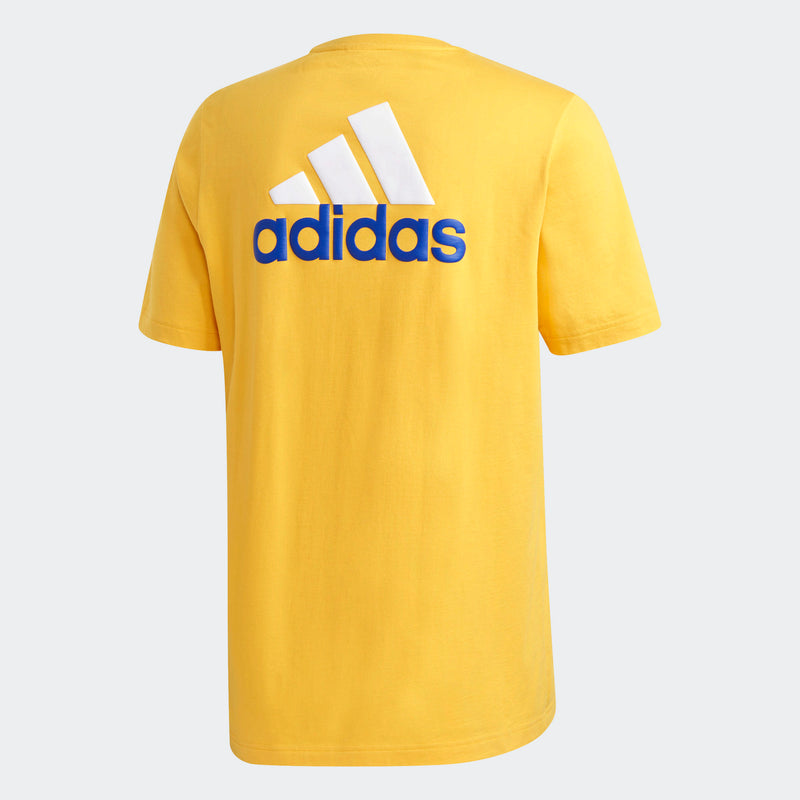 Adidas Mens Short Sleeve Graphic Tee - Gold