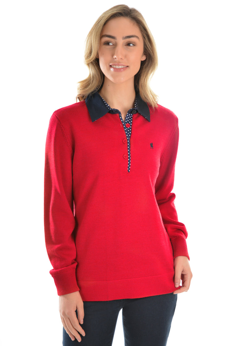 Thomas Cook Womens Jeanette Merino Wool Blend Rugby