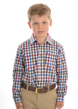 Thomas Cook Kids Evans Check Long Sleeve Shirt