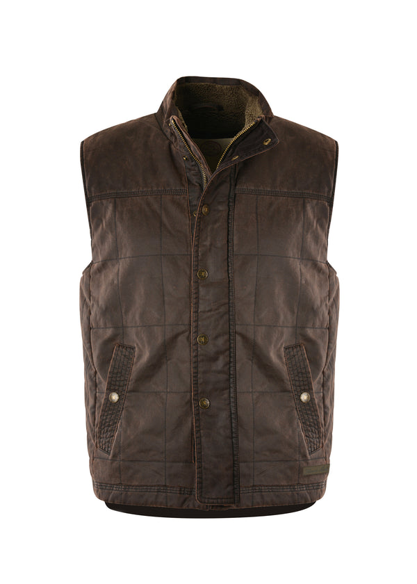Thomas Cook Men's Becker Faux Oilskin Vest - Rustic Mulch