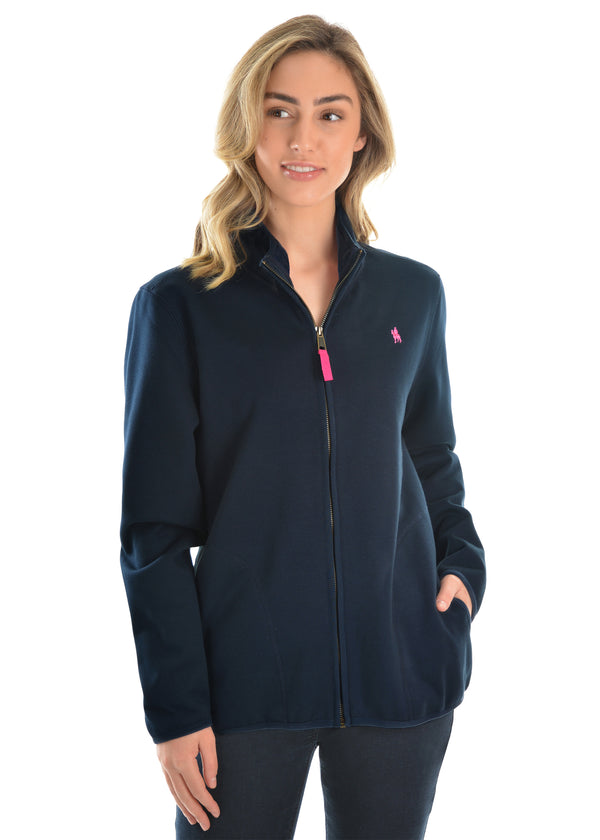 Thomas Cook Womens Zip Thru Fleece Jacket - Navy