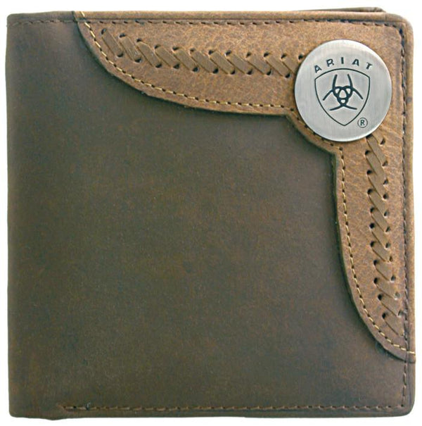 Ariat Bi-Fold Wallet - Two Toned Accent Overlay