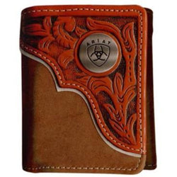 Ariat Tri-Fold Wallet - Tooled Overlay