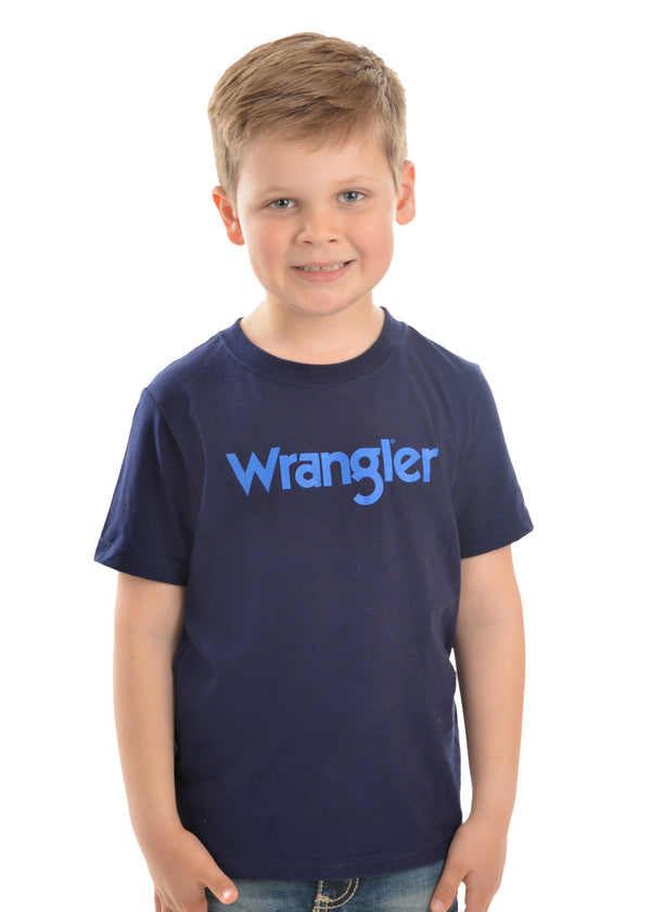 Wrangler Boys Logo Short Sleeve Tee - 2 Colours