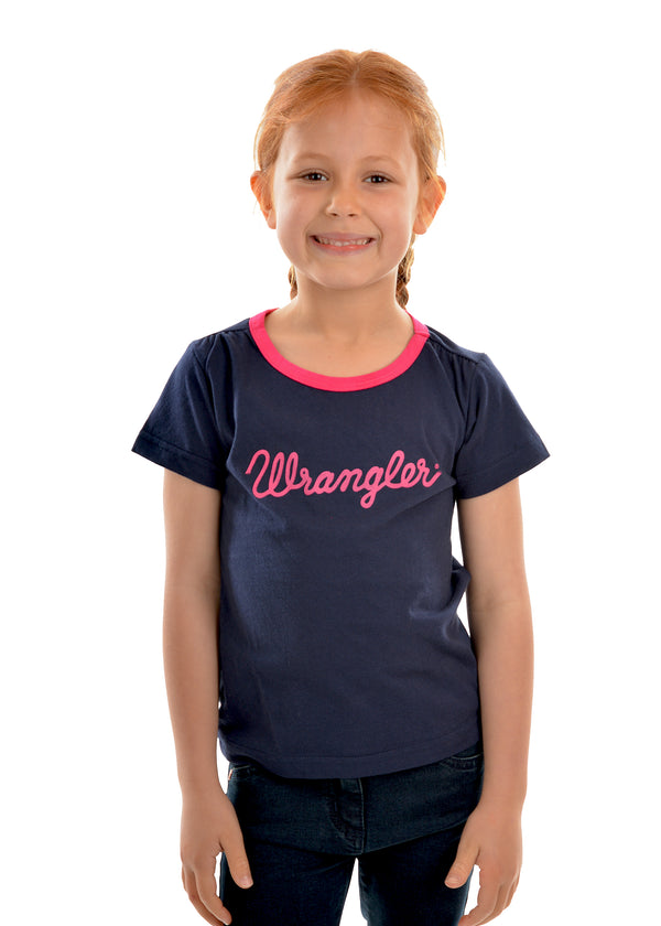 Wrangler Girls Logo Tee - 3 Colours