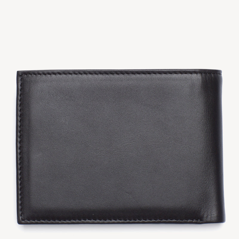 Tommy Hilfiger Eton Bifold Leather Wallet - Brown and Black